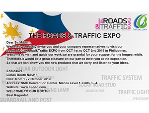 Welcome to visit 2019 Road&Traffic EXPO